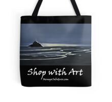 Evening Light in the Bay of Mont Saint Michel - Shop with Art Tote Bag