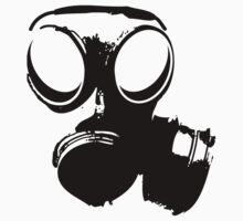 Gasmask BW One Piece - Long Sleeve
