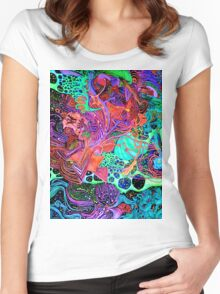 PSYCHEDELIC Color Women's Fitted Scoop T-Shirt