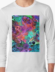 PSYCHEDELIC Color Long Sleeve T-Shirt