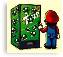 Mario's 1 up auto seller Canvas Print