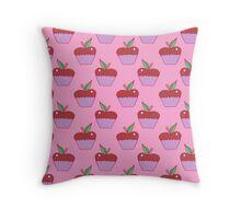 Apple Cupcake Pink Pattern Throw Pillow