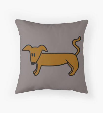 Sausage Dog Throw Pillow