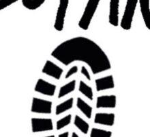The story so far shoe print Sticker