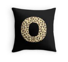 Leopard O Throw Pillow