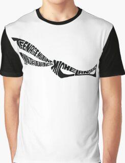 Michelangelo TMNT Black Graphic T-Shirt