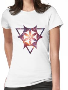 Sacred Geometry Space III - White Womens Fitted T-Shirt