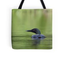 Cool and green and shady - Common loon Tote Bag