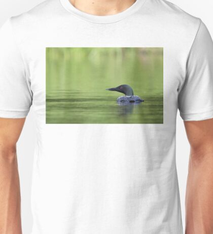 Cool and green and shady - Common loon T-Shirt