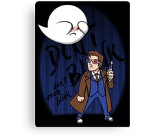 Don't Blink Boo & Dr.who Canvas Print