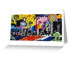 Graffiti cityscape Greeting Card