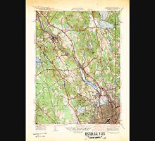 USGS TOPO Map Rhode Island RI Pawtucket 353438 1942 31680 Unisex T-Shirt