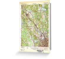 USGS TOPO Map Rhode Island RI Pawtucket 353438 1942 31680 Greeting Card