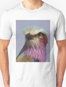 Lilac Breasted Roller Close Up  Unisex T-Shirt