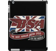 BSA MOTORCYCLE VINTAGE ART iPad Case/Skin