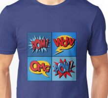 Set of Comics Bubbles in Vintage Style Unisex T-Shirt