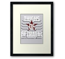 Thighs of Betrayal- The Winter Soldier Framed Print
