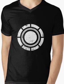Distressed Arc Sheild Mens V-Neck T-Shirt
