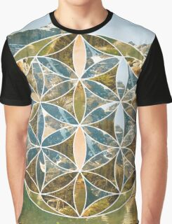 Mountain Geometric Collage Graphic T-Shirt