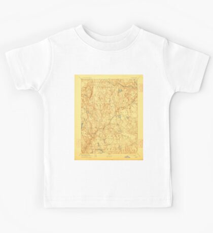 USGS TOPO Map Connecticut CT Gilead 331028 1892 62500 Kids Tee