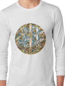 Mountain Geometric Collage 2 Long Sleeve T-Shirt