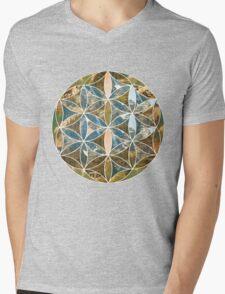 Mountain Geometric Collage 2 Mens V-Neck T-Shirt