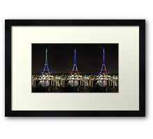 Eiffel towers Framed Print