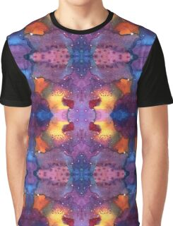 Seamless pattern with Galaxy Watercolor painting Graphic T-Shirt