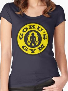 Goku's Gym (Gold's Gym Parody) Women's Fitted Scoop T-Shirt