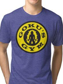 Goku's Gym (Gold's Gym Parody) Tri-blend T-Shirt