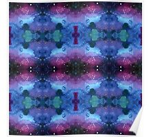 Seamless pattern with Galaxy painting in Shibori technique Poster