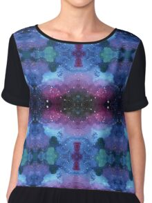 Seamless pattern with Galaxy painting in Shibori technique Chiffon Top