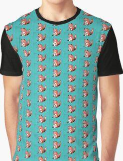 Drumming Fox Graphic T-Shirt