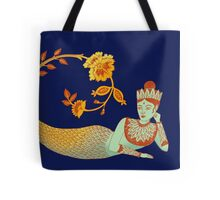Flower Devi Green Goddess Tote Bag