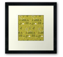Camping Seamless Pattern Framed Print