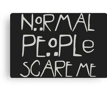 Horror Anthology - Normal People Canvas Print