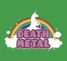 Death Metal Unicorn Baby Tee