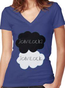 Johnlock? Johnlock Women's Fitted V-Neck T-Shirt