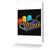 Ghost busted Pacman Greeting Card