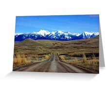 Mission Mountains Gravel Road Greeting Card