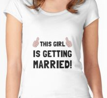 Girl Getting Married Women's Fitted Scoop T-Shirt