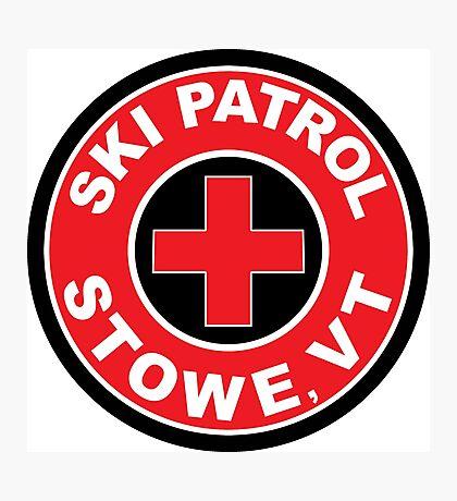 STOWE VERMONT Ski Patrol Ski Skiing Art Photographic Print