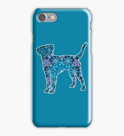Labrador Retriever, Bohemian Snowflakes iPhone Case/Skin