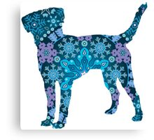 Labrador Retriever, Bohemian Snowflakes Canvas Print