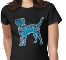 Labrador Retriever, Bohemian Snowflakes Womens Fitted T-Shirt