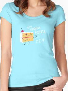 Angry Cake Women's Fitted Scoop T-Shirt