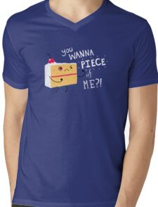 Angry Cake Mens V-Neck T-Shirt