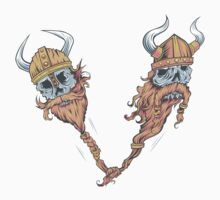 V is for Viking Beards of Valhalla One Piece - Short Sleeve