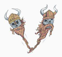 V is for Viking Beards of Valhalla Kids Tee