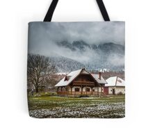 House by the mountains Tote Bag